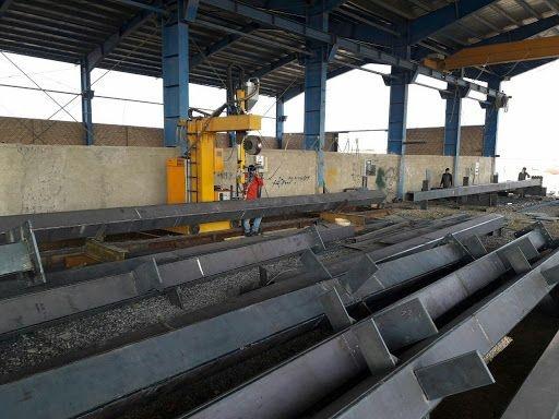 فروش کارخانه فعال ساخت اسکلت فلزی در شهرک صنعتی زاویه